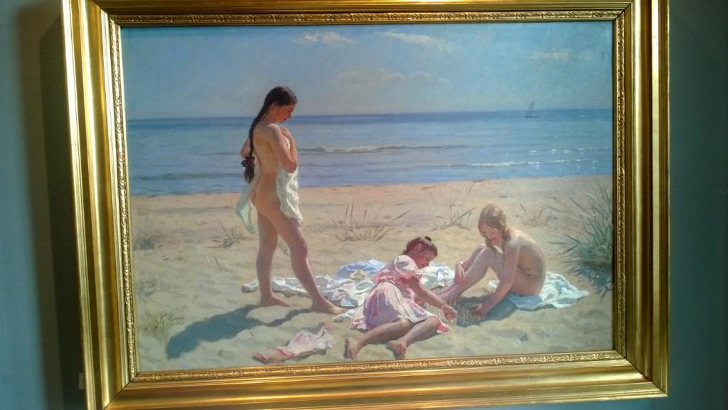 Laurits Tuxen: Sommerdag på Skagen Strand