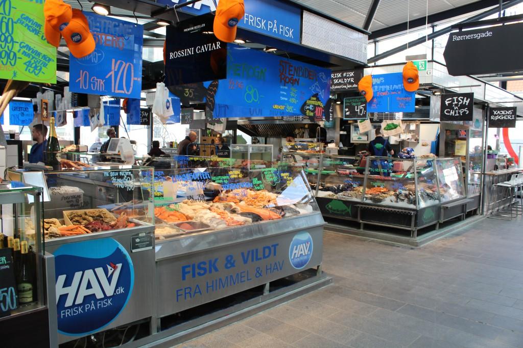 Specialbutik i Torvehallerne med alt godt fra havet. Foto den 16. marts 2015 af Erik K Abrahamsen