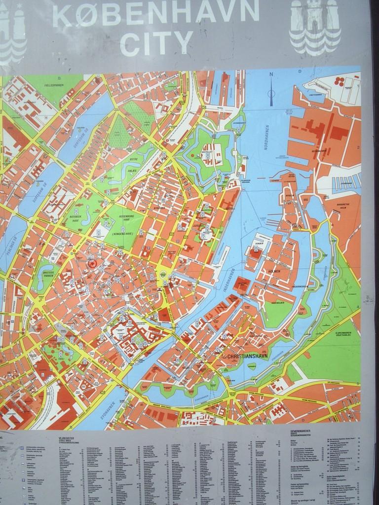 KOrt over København City. Foto den 10. oktober 2012 af Erik K Abrahamsen