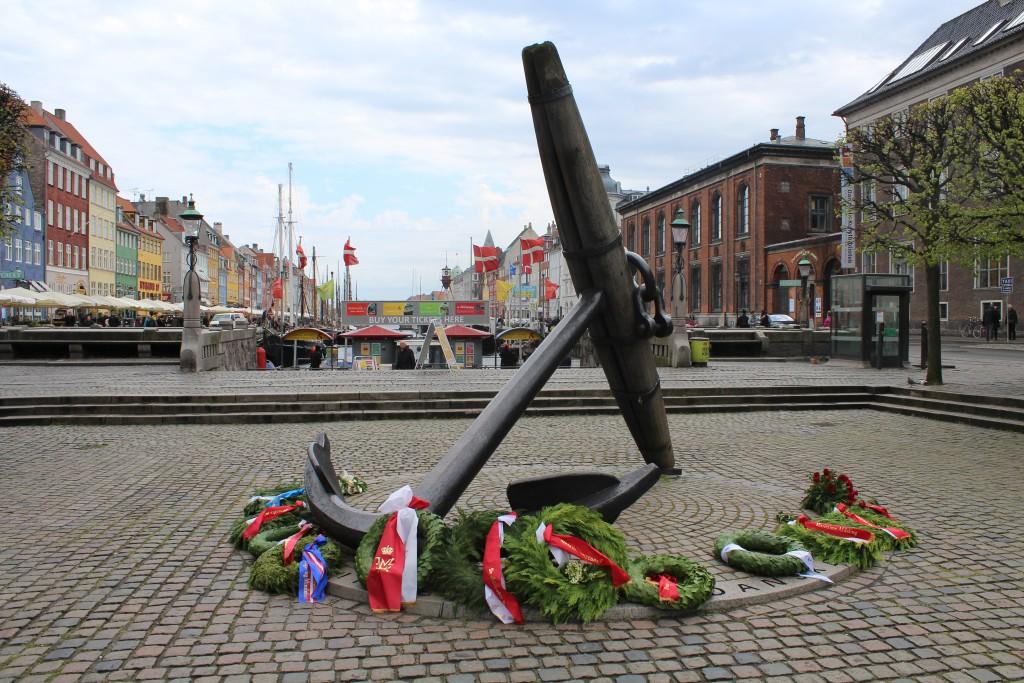 Mindeankeret i Nyhavn til minde om de ca. 2400 danske sømænd som omkom under allieret tjeneste under 2. Verdenskrig 1940-45. Foto 5. maj 2015 af Erik k Abrahamsen