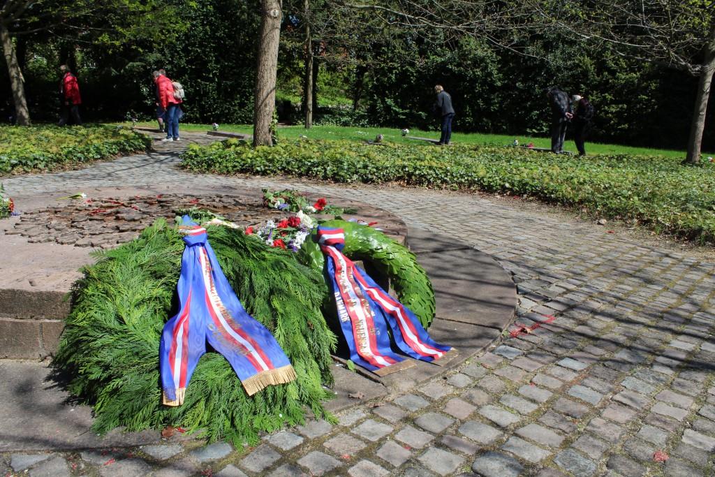 Gravlunden for kz-fanger som er omkommet i tyske koncentrationslejre 1940-45 og hjemført til Mindeparken Ryvangen