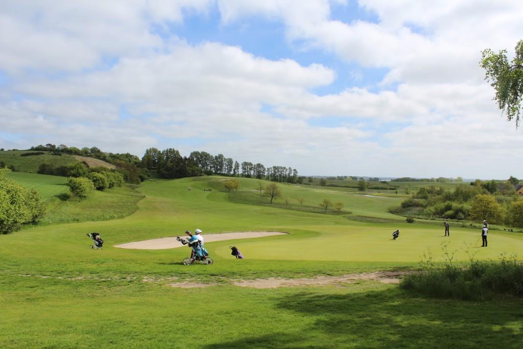 Asserbo Golf Club i Nordsjlælland. Udsigt mod bane 15, par 5, 456 m