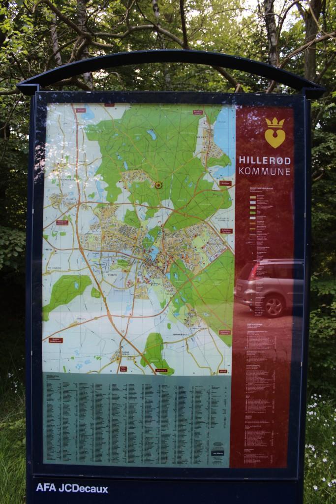 Oversigtkort over syd-vestlig del af Gribskov og Hillerød kommune. Foto den 9. juni 2015 af Erik K Abrahamsen