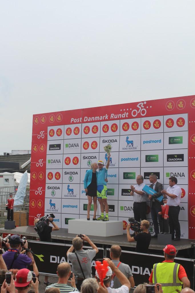 Kåring af Postnord Pointtrøje efter 4. etape 115 km S