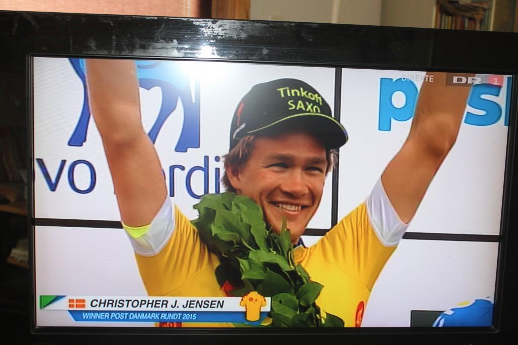 Christopher Juul Jensen Tinkoff-Saxo (TCS): Vinder af Post Danmark Rundt 2015 fotograferet på po