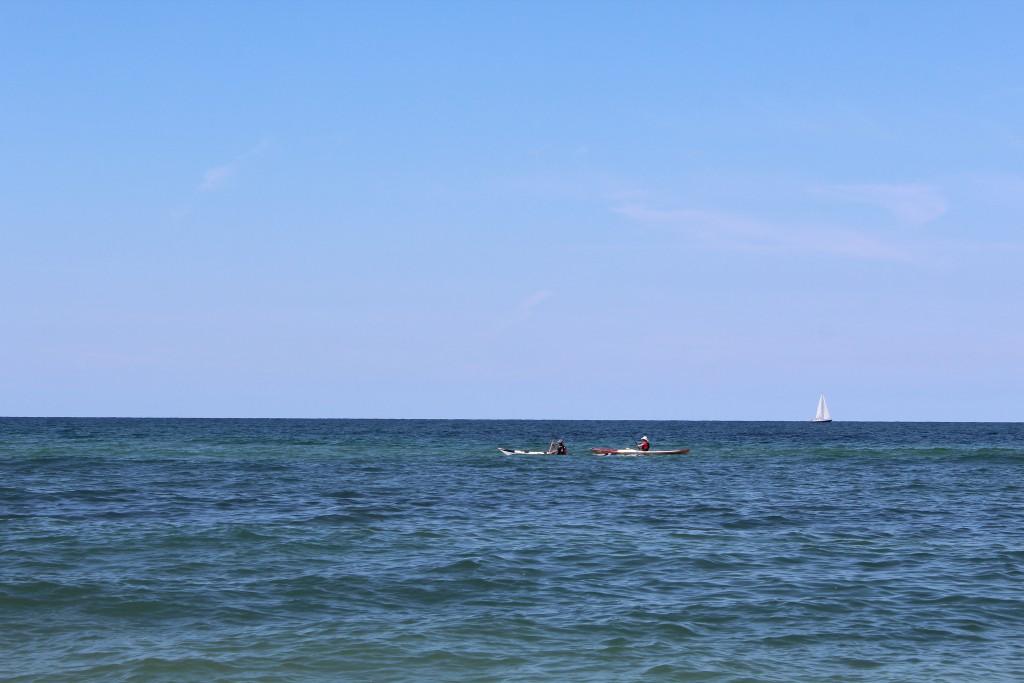 Liseleje Strand- Udsigt mod nord ud over Kattegat. Foto den 9. august 2+15 af Erik K Abrahamsen