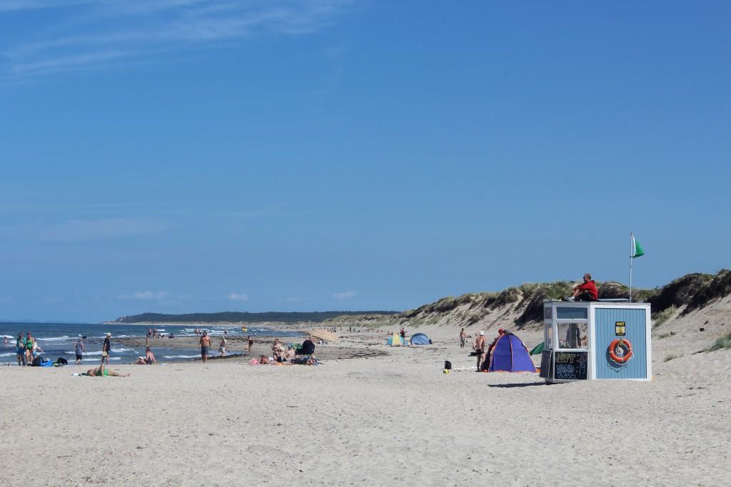 Livredderpost på Lisele Strand opstillet af Norddsjællands Li