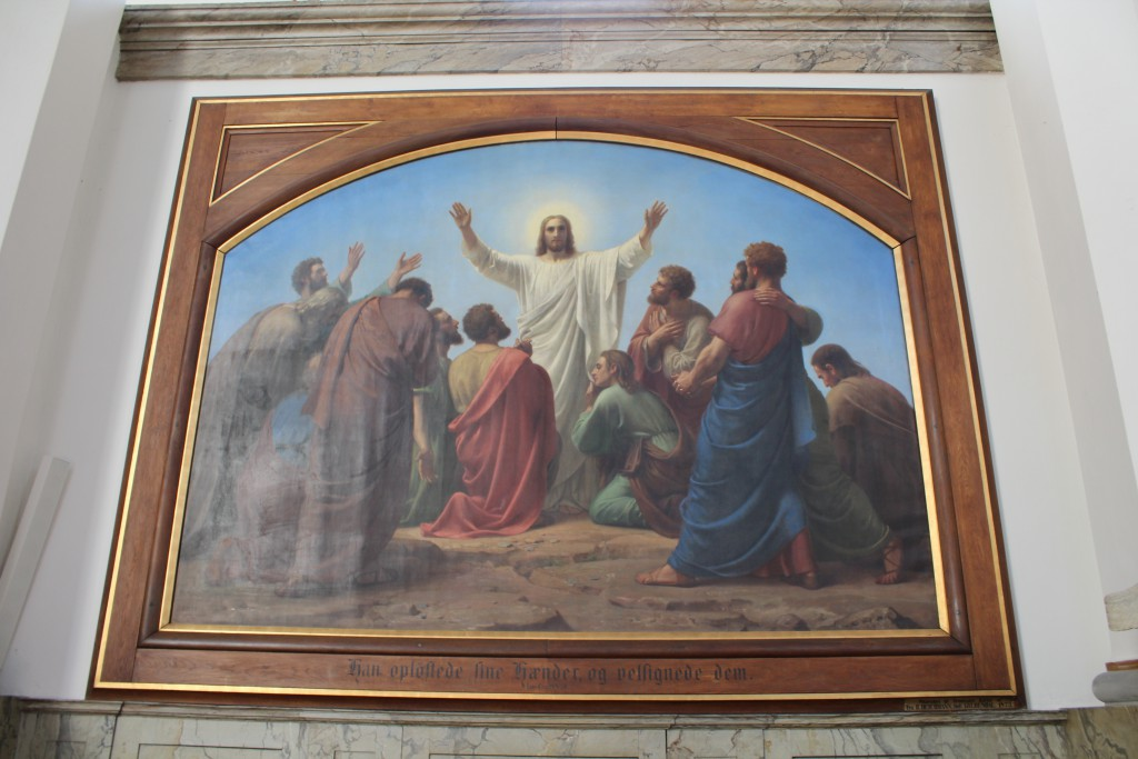 Ascention of jesus Christ. painting in Trinitatais Church, Copenhagen. Photo 2015 by Erik K Abrahamsen