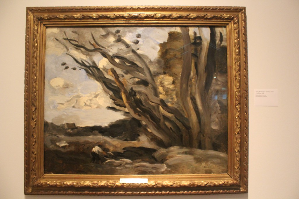 Jean-Baptiste Corot 1796-1875: Vindstød,u.å.. Olie på lærred, 82 x 100 cm. Nationalmuseum Stockholm. Photo 27. november 2015 by Erik K Abrahamsen
