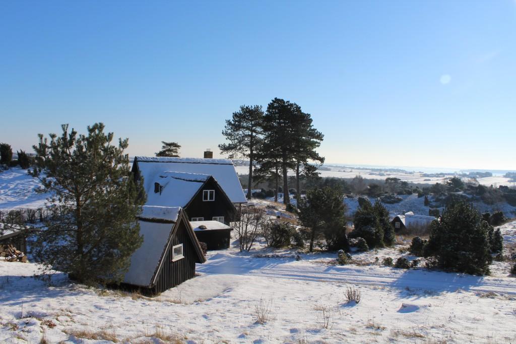 Tibirke bakker.Sommerhus. View in direction south-west to Arresø.