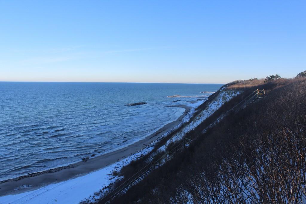 Hyllingeberg Cliff. View in dire