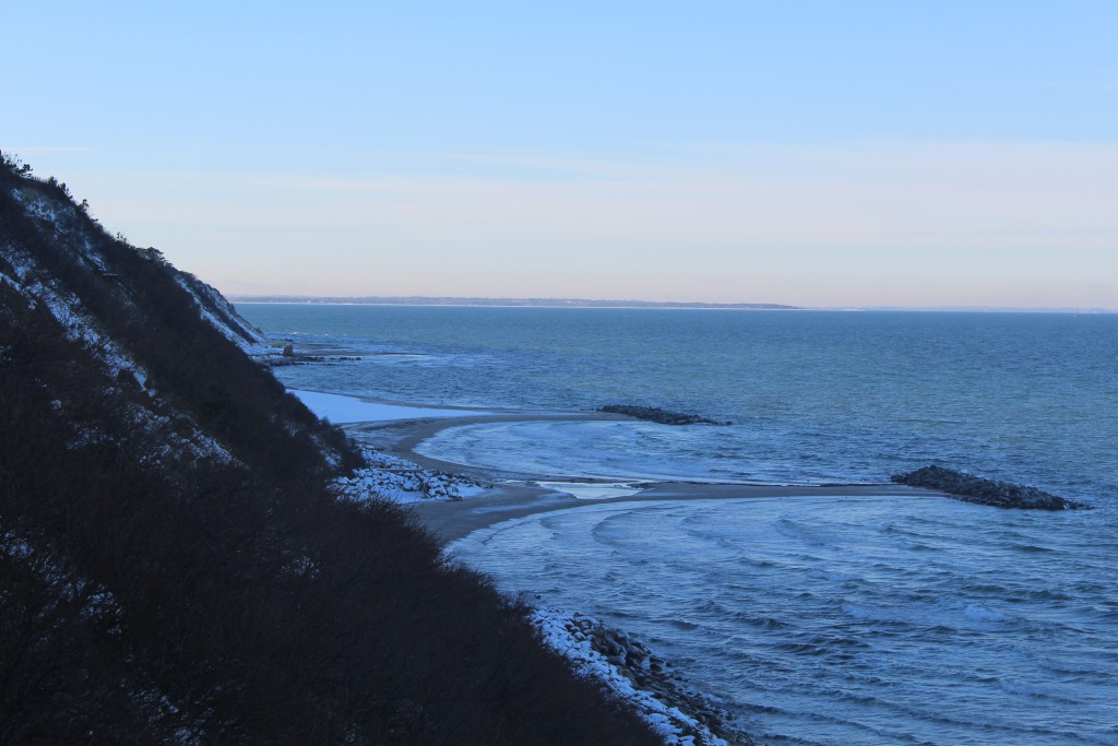 Hyllingebjerg Cliff. View in dire