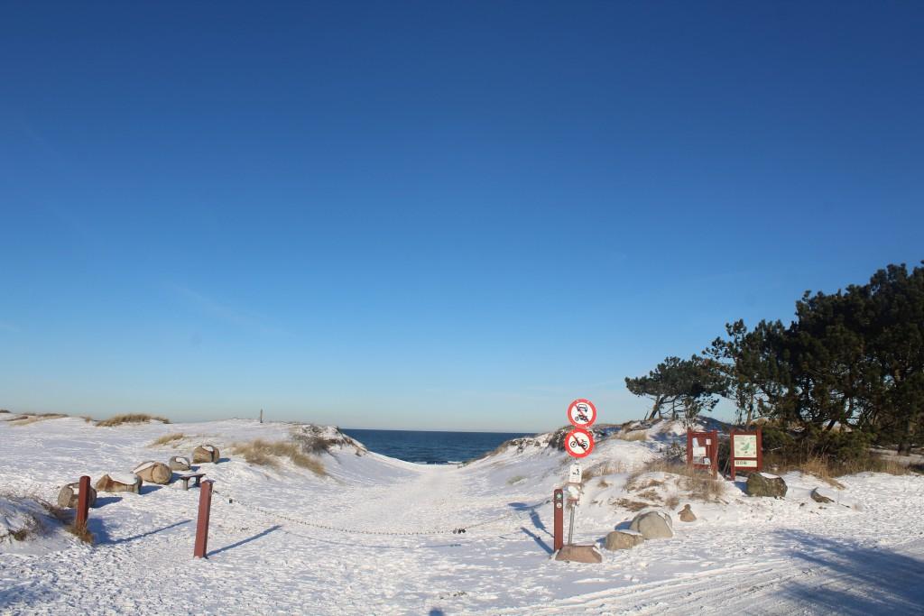 Liseleje Beach. Main entrance to bea