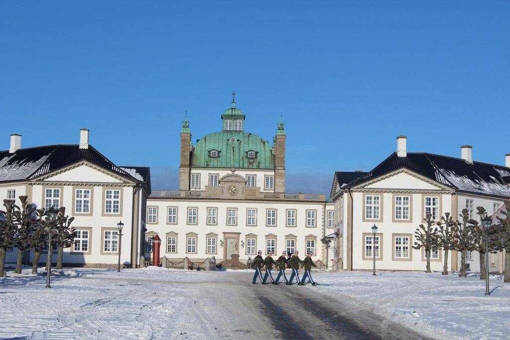 Entrance to Fredensborg Castle builde