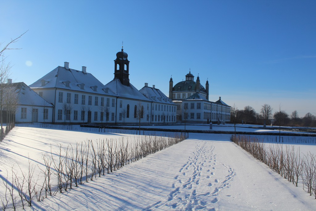 Fredensborg baroque garden in from of