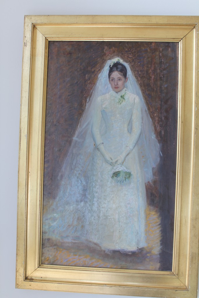 Ursule Tuxen on her wedding day 6. march 1885.