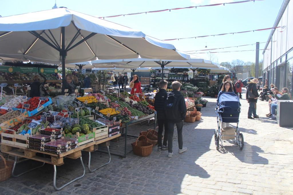 """Outdoor Market """"Torvehaller"""" on Israel Plads. Photo 20. april 2016 by Erik K Abrahamsen."""