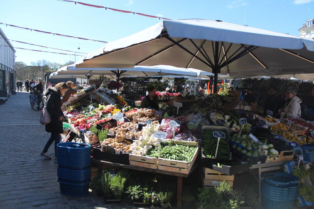 """Outdood market """"Torvehallerne"""" on Israel Plads. Photo 20. april 2"""