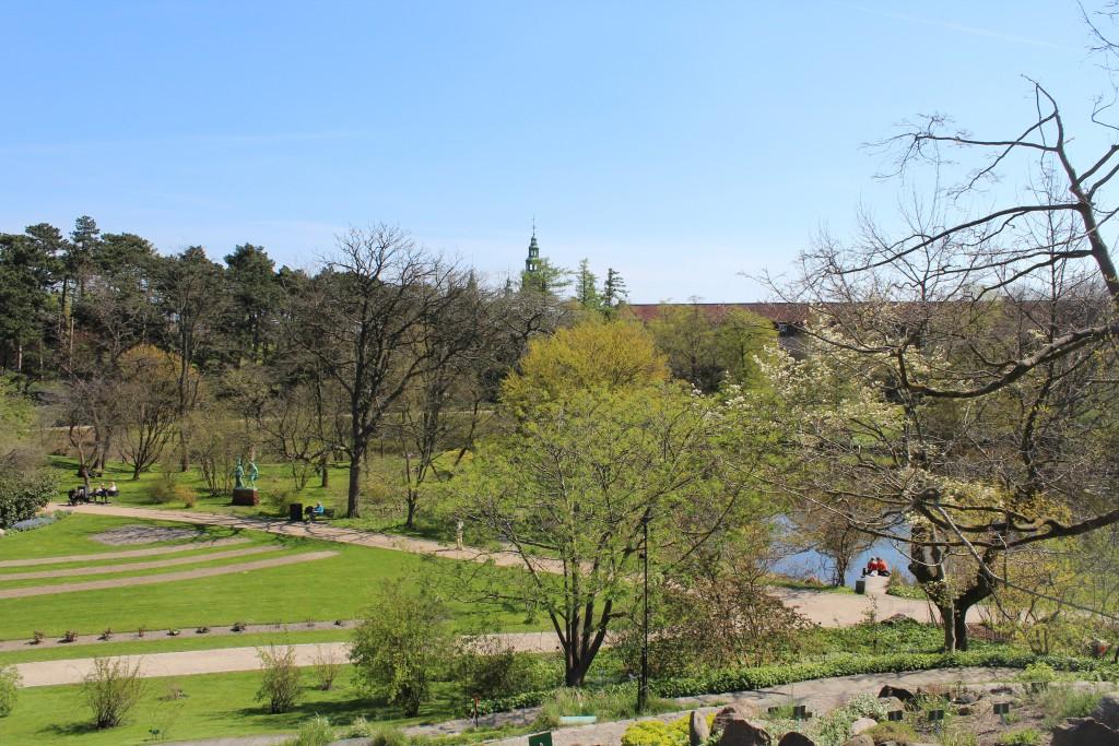 View from Rock Garden.Stenhøjen to neighboring Rosenborg Castle and Barrack.