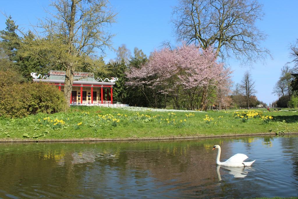 The Chinese Summerhouse - Det Kinesiske Lysthus in Frederiksberg Garden. Photo in directio to entrance of Frederks