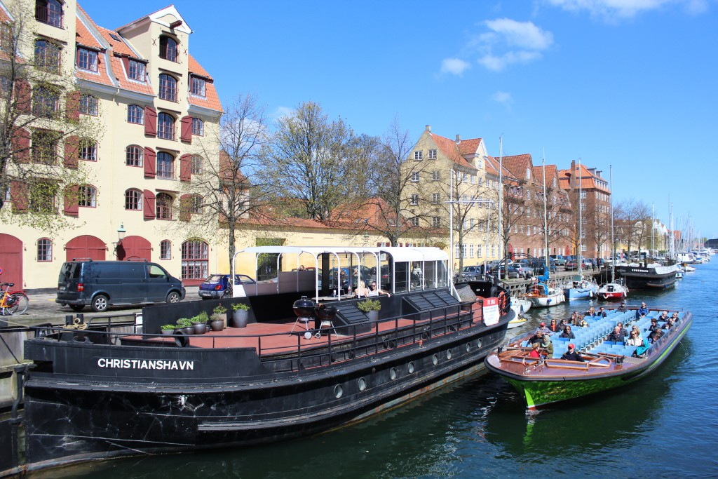 Christianshavn canal. View from Sct. Annae Bride. At left store house from 1700