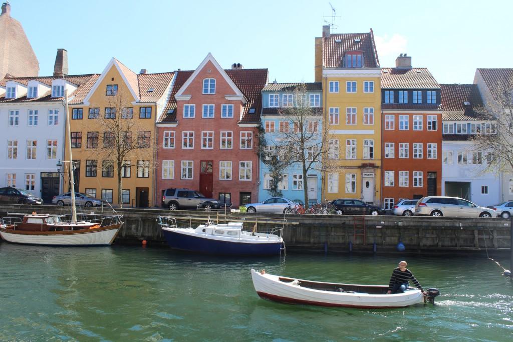 "Christianshavn canal. View to south side street ""Overgaden oven Vandet"". Photo 4. may 2016 by Erik K Abrahamsen."