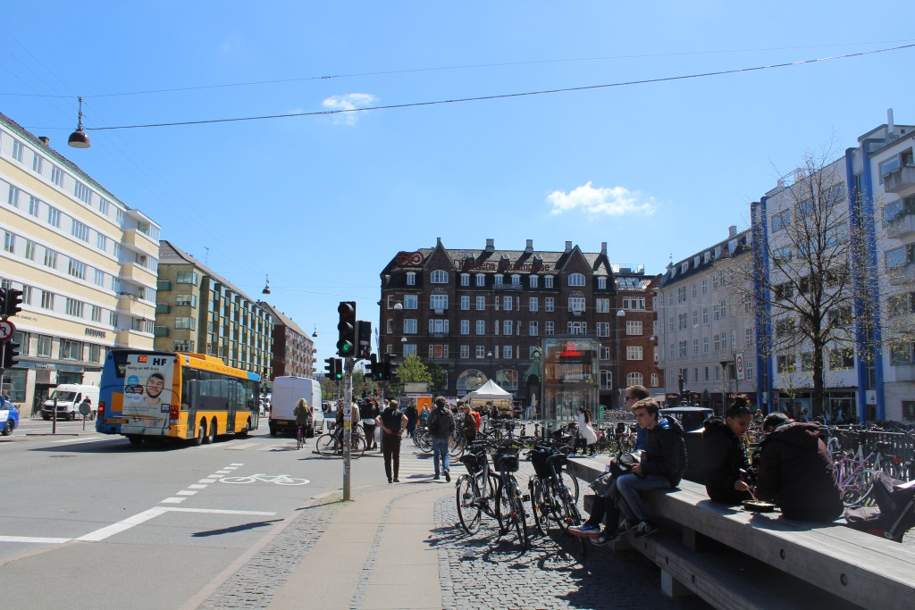 Christianshavn Square. At left street Torvegade which lead to Island Amager in the background