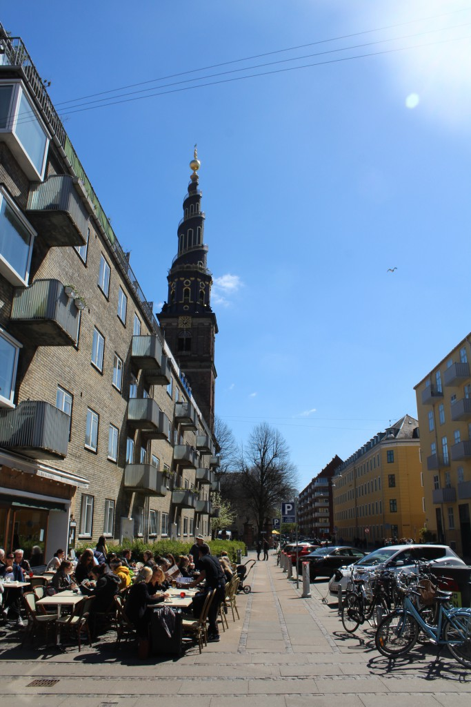Christianshavn Canal. View in direction south from Sct. Anna Bridge to Our Saviour Church. Photo 4. may 2016 by Erik K Abrahamsen.