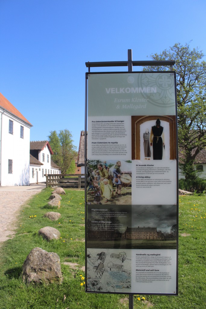 Esrum Mill and Farm - Esrum Møllegård. View in direction nort to Esrum Monaststery in background. Phoot 12. may 2016 by Erik K Abrahamsen.
