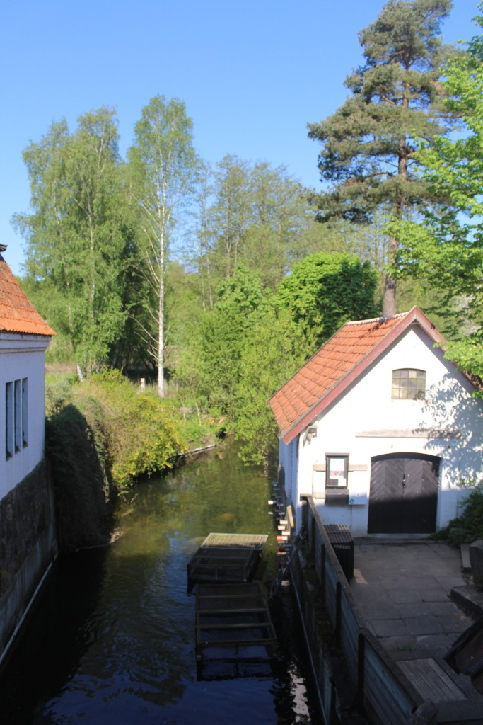 Esrum Mill. View from ground floor to stream running out of the mill. Photo 12. may 2016 by Erik K Abrahamsen.0