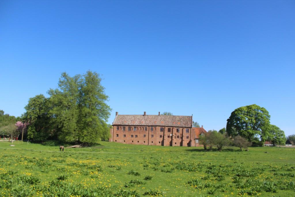 "Esrum Monastrry. Original south wing of eastern monastery : Økonimogård"". The western part of this win"