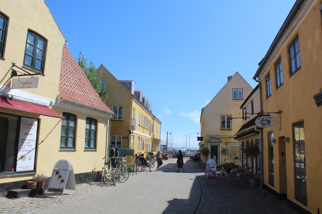 Dragoer shopping area. Photo indirection east to Dragoer Harbor. Photo 27. May 2016 by Erik K Abrahamsen.
