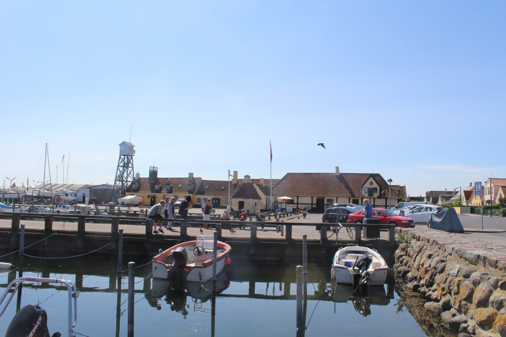 Dragoer Harbour. View to Pilot Tower, Pitch House and The Tourist Office. Pho