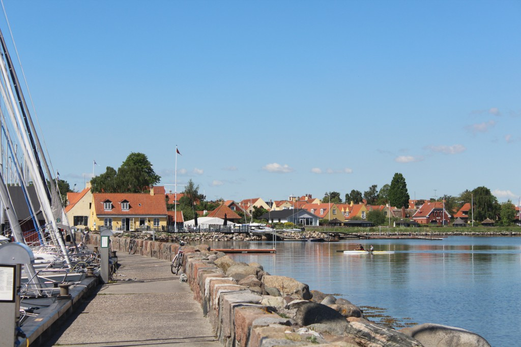 Dragoer Harbour. View in direction west to northern beach of Dragoer. Pho