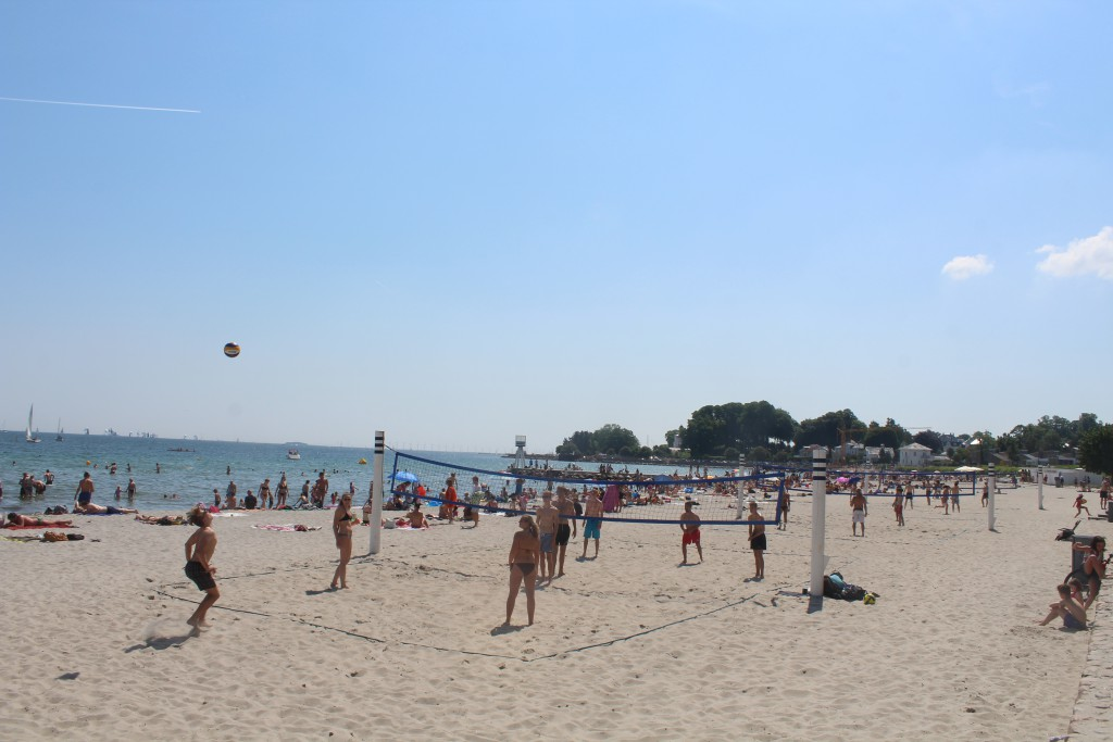 Beach Volley Ball on Bellevue Beach at Øresund Cost. Phohot in direction south 4. june 2016 bt Erik K Abrahamsen