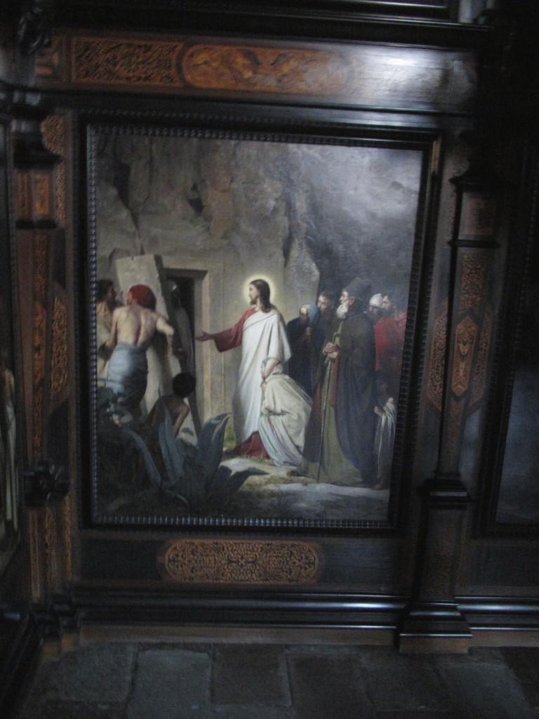 Lazarus opvækkes. Painting in Frederiksborg Slotskirke