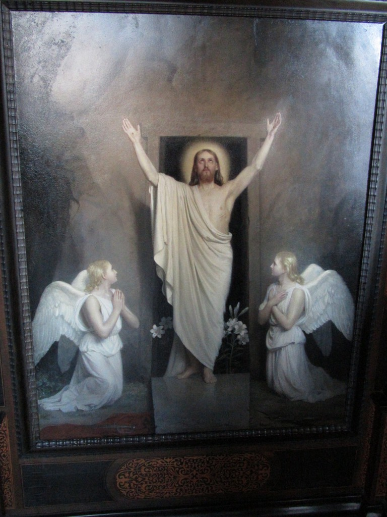 Resurrection of Our LORD Jesus Christ from the grave. Painting i Church of Frederiksborg Castle. Photo 2013 by Erik K Abrahamsen.