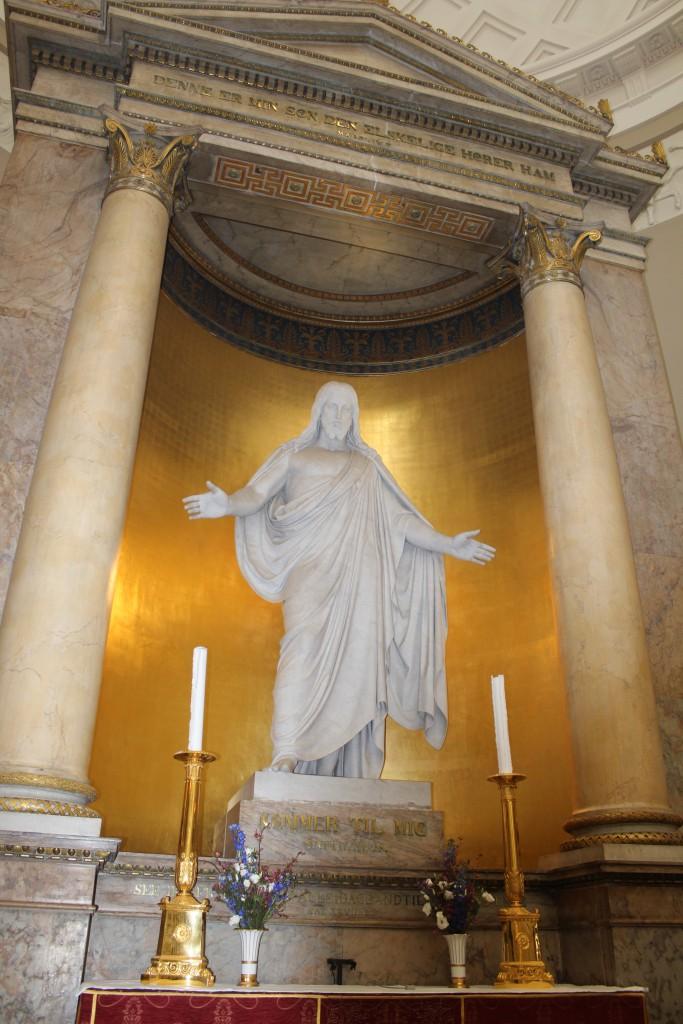 "Cathedral VOr Frue Kirke"" in Copenhagen. Kristus figur by sculptor Ber"