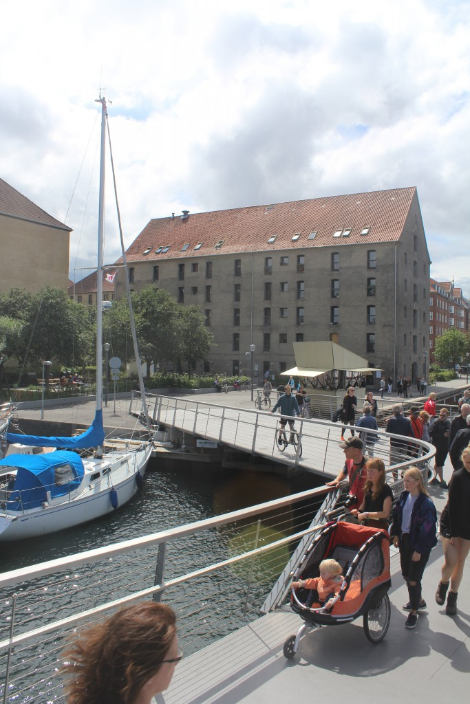 View from Trangravsbroen to Iceland Place on Christianshavn. Photo o direction west 9. july 2016 by erik K