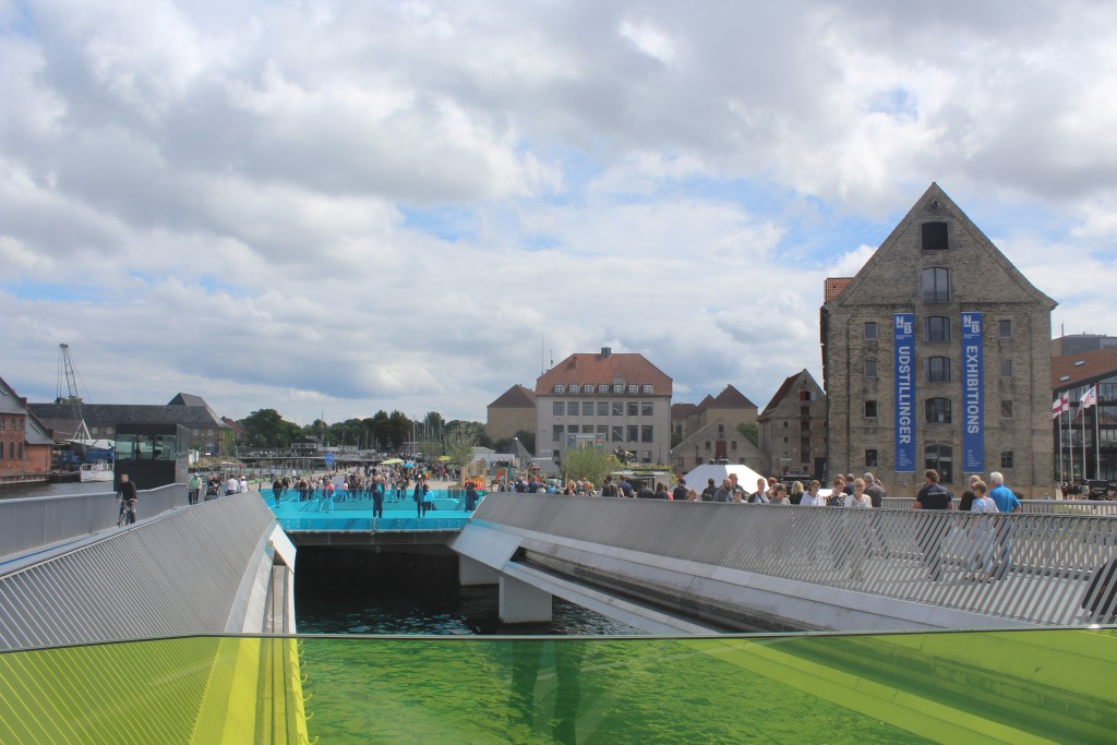 """The new """"Inderhavnsbroen"""". View in direction south to Christianshavn with new walk-and bike bridge """""""