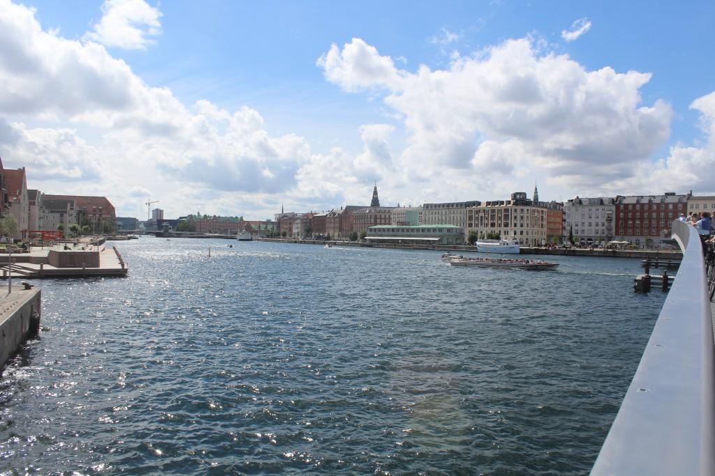 View in direction west from top of Inderhavnsbroen. Photo 9. july 2016 by Erik K Abrahamsen