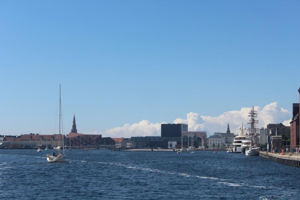 Copenhagen Inner Harbour. Photo in direction west 20. july 2016