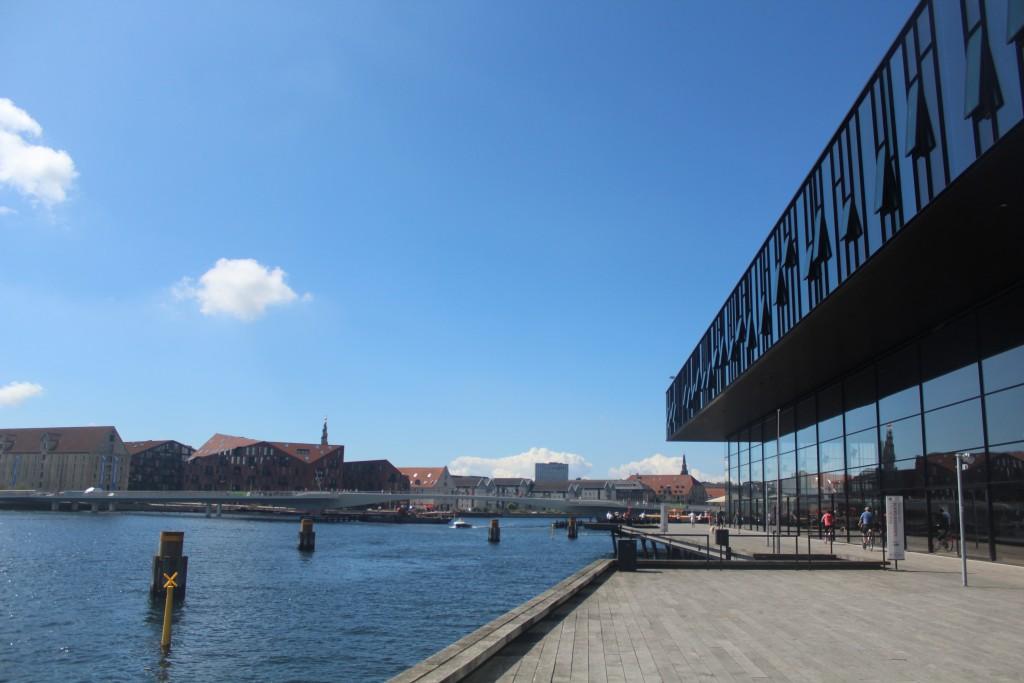 "View to new walk- and bike bridge ""Inderhavnsbroen"" built 2011-16. At"
