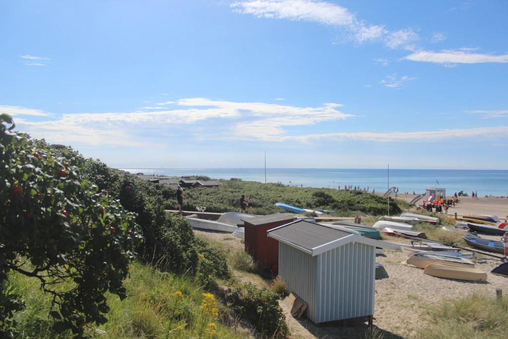 Tisvildeleje Strand. Udsigt i retning vest ud ovet Kattegat. Foto 21. juli 2+16 af Erik K Abra