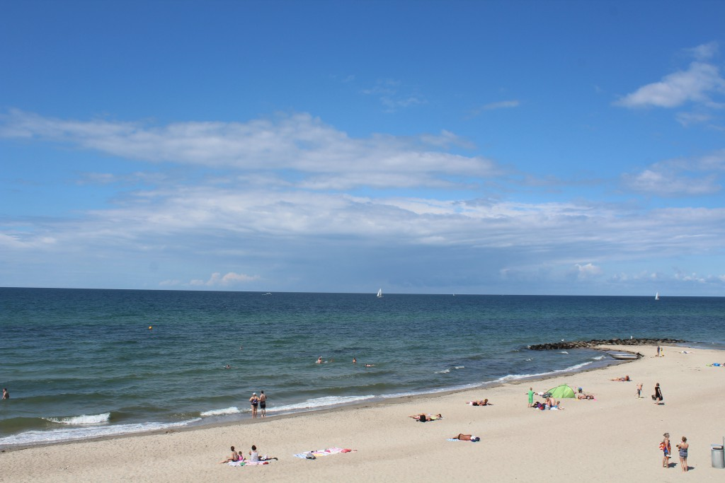 Liseleje Beach at Kattegat Sea. Photo in direction north to Kattegat Sea 28. july 2016 by Erik K Abrahamsen.