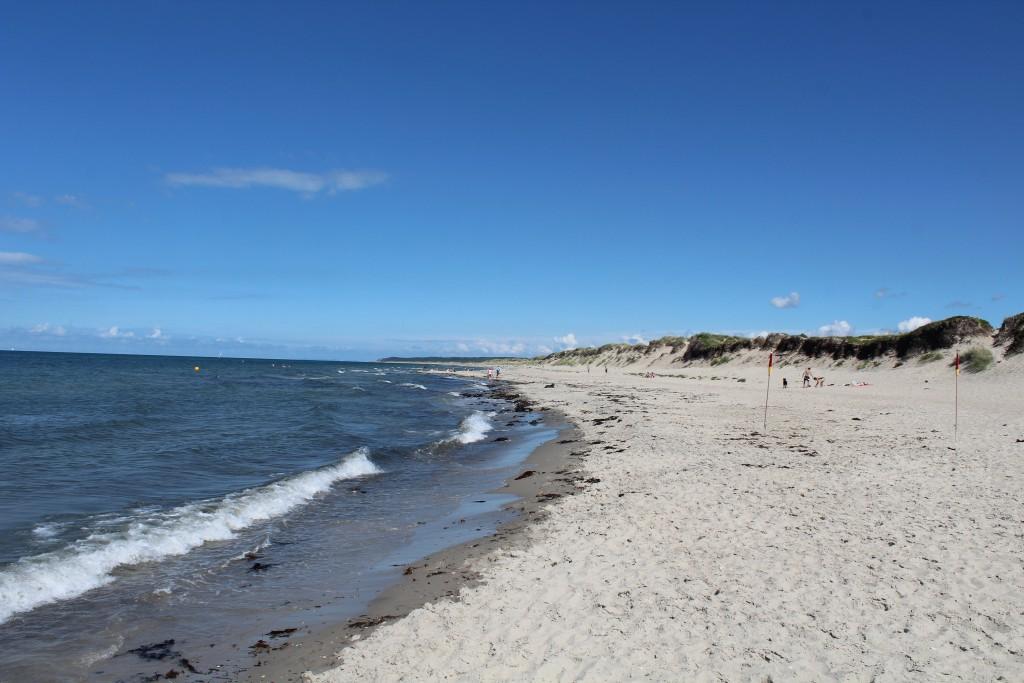 Liseleje Beach at Kattegat Sea. Photo in direction Tisvilde Hegn 28. july 2016 by Erik K Abrahamsen.