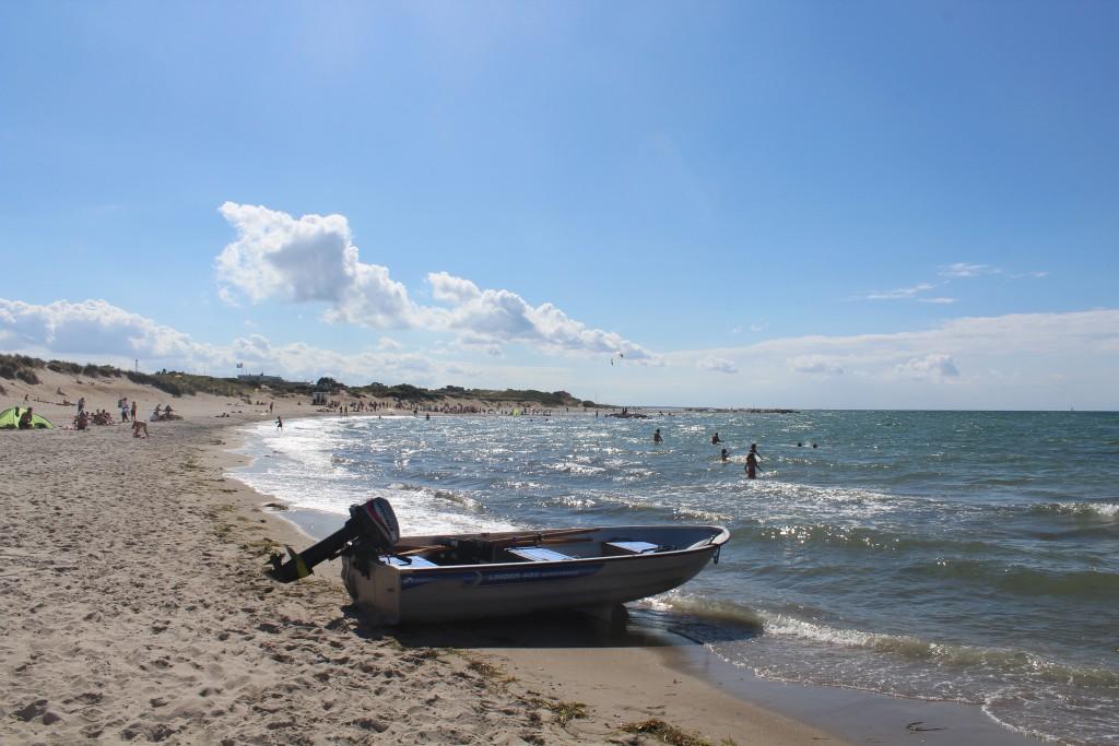 Liseleje Beach at Kattegat. Photo in direction west 28. july 2016 by Erik K Abrahamsen.