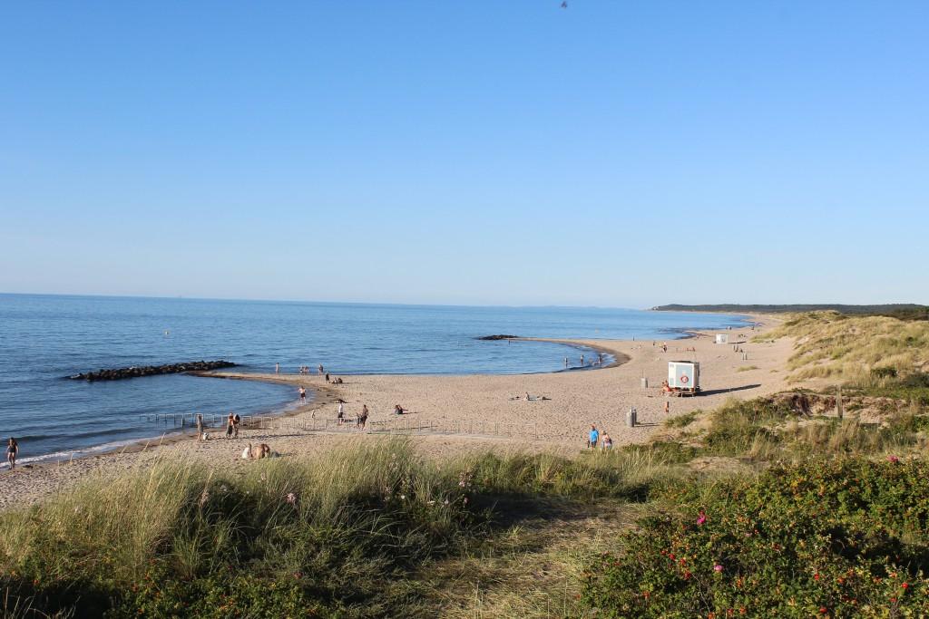 LIseleje Beach at Kattegat Cost. Photo in direction east to Tisvilde hegn, Tisvildeleje Beach and Kulle, Sweden in horizon.