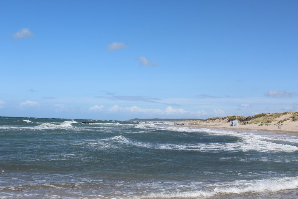 Liseleje Beach at Kattegat Coast. View in direction east to Tisvilde Hegn and Tisvildeleje Beach in hreizon. Photo 9. august 2016 by Erik K Abrahamsen.