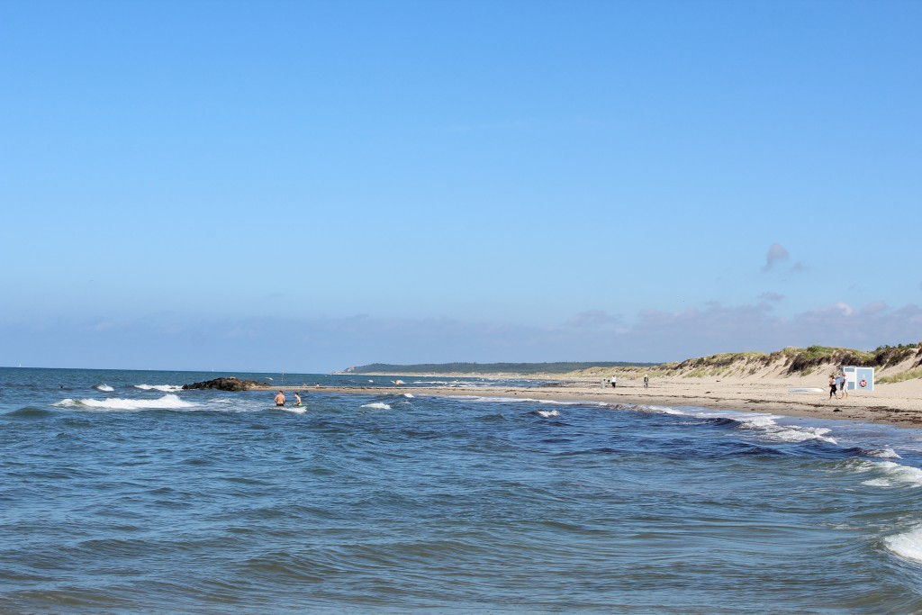 Liseleje Beach at Kattegat Coast in North Sealand, Denmark. Phoot in direction east to Ti